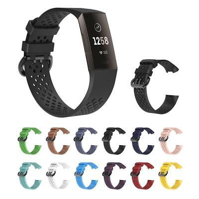 Replacement Silicone Watch Wrist Bracelet Sport Band Strap For Fitbit charge 3