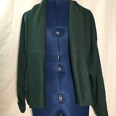 vtg Outback Red Drape Cardigan Dark Hunter Green Vintage Size Small Great