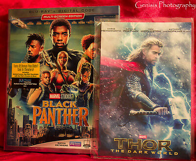 Black Panther (Blu Ray + Digital) + Art Cards Brand New