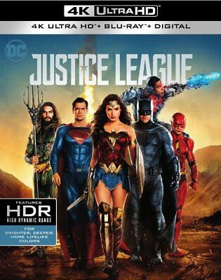 Justice League (4K UHD+Blu-ray+HD Digital) Slipcover-NEW