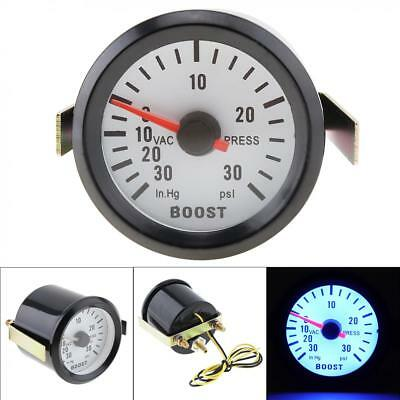 "2"" 52mm 12V Blue LED 0~30in.Hg / 0~30PSI Turbo Boost Gauge Meter with Sensor"