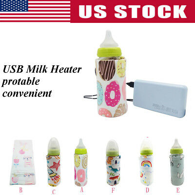 Baby Bottle Warmer Milk Food Heater Portable Travel Car USB Outdoor