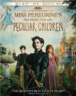 Miss Peregrines Home For Peculiar Children (Blu-ray Disc, 2016, 2-Disc Set) NEW