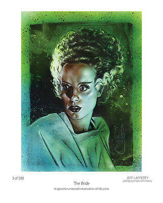 Bride Of Frankenstein - Horror Art, Limited Edition Print by Jeff Lafferty