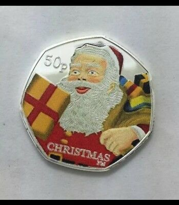 2011 Isle Of Man Father Christmas 50p Coin - AS STRUCK SOUVENIR UNCIRCULATED UK