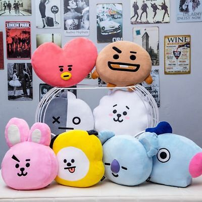 35cm BTS Plush Pillows Kpop Bangtan Boys Bt21 Stuffed Cushion