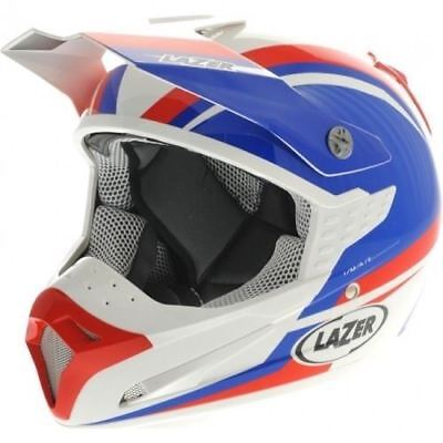 Lazer SMX Nations Motocross MX Off Road Quad ATV Helmet Blue White Red Small