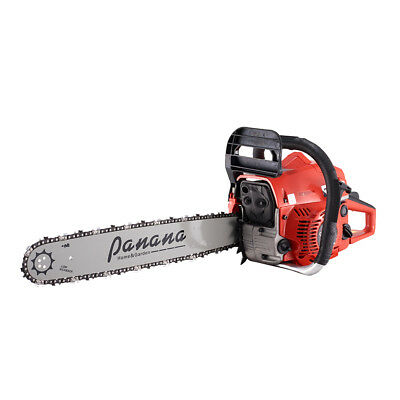 "58cc 20"" Petrol Chainsaw + 2 x Chains + More Lightweight Garden Tool Panana UK"