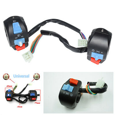 """Pair 7/8"""" Motorcycle Horn Turn Signal Electric Start Handlebar Controller Switch"""
