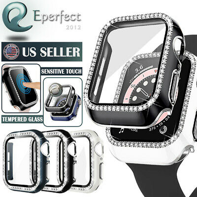 For Apple Watch Series 4 40mm 44mm Snap On Hard Case Built in Screen Protector