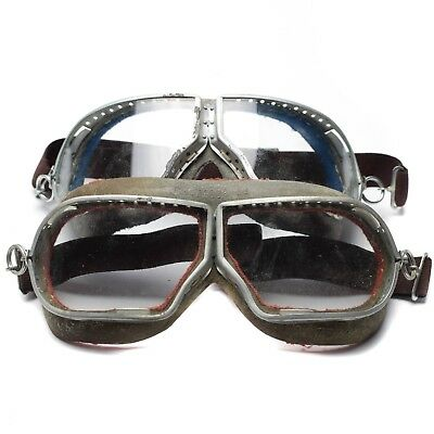 Genuine soviet russian army aviator goggles eye protection glass military pilot