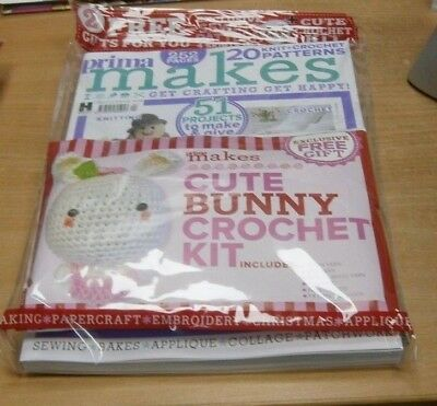Prima Makes magazine #24 NOV 2018 Knit & Crochet, 51 Projects + Bunny Kit