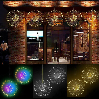 Firework 120led Hanging Twinkle Starburst Fairy Copper Wire Strip String Lights