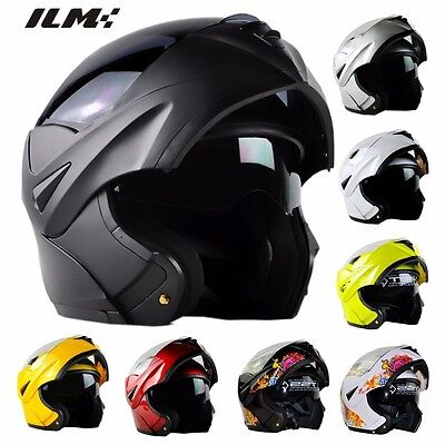 9 Colors DOT Modular Dual Visor Flip Up Motorcycle Helmet Motocross Full Face