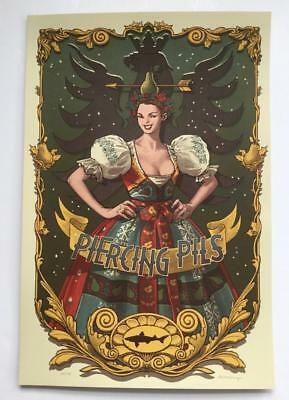 Dogfish Head Piercing Pils Beer 2015 Signed Poster Art Print Rich Kelly #23/170