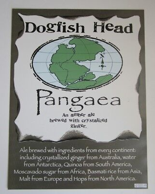 Dogfish Head Delaware Brewery Pangaea Amber Ale Craft Beer World Poster Print