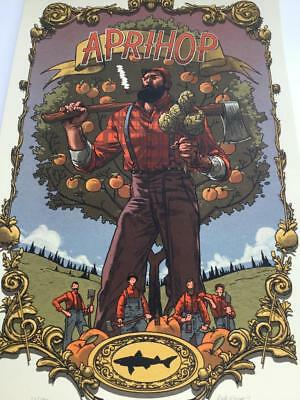 Dogfish Head Aprihop Beer 2015 Signed Poster Art Print Rich Kelly DH #23/170