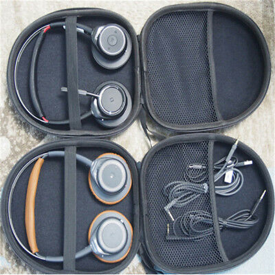 Portable Black PU Leather Hard Case Cover For Headphones Headset LH