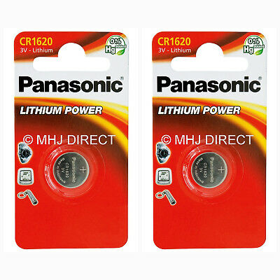 2 x Panasonic 1620 DL1620 CR1620 ECR1620 3v Batteries Coin Cell Use By Exp 2027