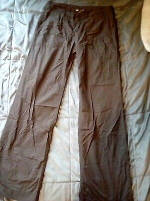 Gap womens size 2 brown casual crinkle pants, hip sling, flare