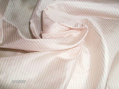 "NEW SIZE!~PINK/WHITE STRIPE SILK TISSUE TAFFETA~9""x22""~DOLL FABRIC~MINIATURES"