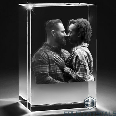 3D Laser Glass Photo Crystal Gift - Gifts for Men, Personalised Gift, Buy A Gift