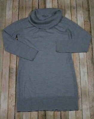 6a51a0b01ad Smartwool Granite Falls Sweater Dress Womens XL Silver Gray Cowl Neck Wool