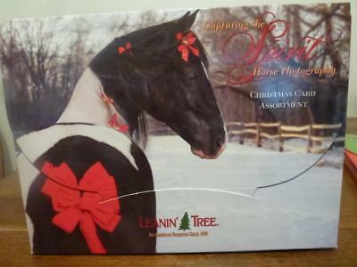 Leanin' Tree 20 Fine Art Christmas Cards Capturing the Spirit Horse Photography