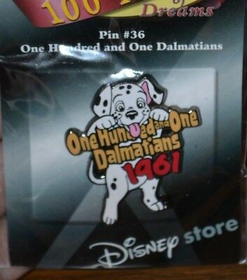 Disney 101 One Hundred And One Dalmatians #36 100 Years Of Dreams Pin New