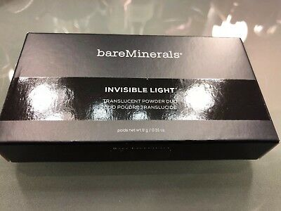 bareMinerals Invisible Light Translucent Powder Matte Glow Duo Palette Full Size