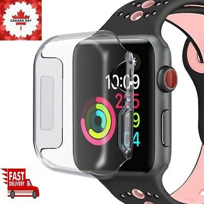For iWatch 40/44mm Apple Watch Clear Case Cover Screen Protector