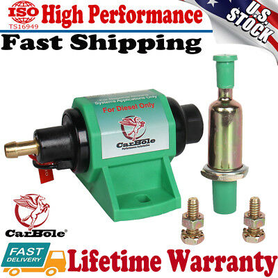 Carbole 12 Volt Micro Electric Fuel Transfer Booster Diesel Pump 35 GPH 4-7PSI