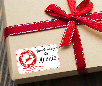Personalised Gift Labels: Special Delivery From Santa Christmas Present Stickers