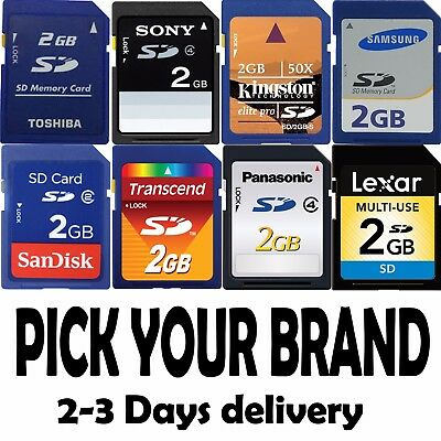 1GB 2GB 4GB SD Memory Card for Wii GPS or OTHERS choose brand 2-3 Days Delivery