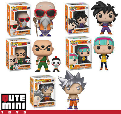 Funko Pop Dragon Ball Z Ultra Instinct Goku Master Roshi Tien Set Of 5 Figures