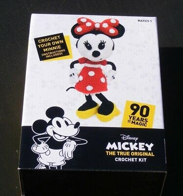 New Disney Minnie Mouse Soft Toy Crochet Kit:90 Years