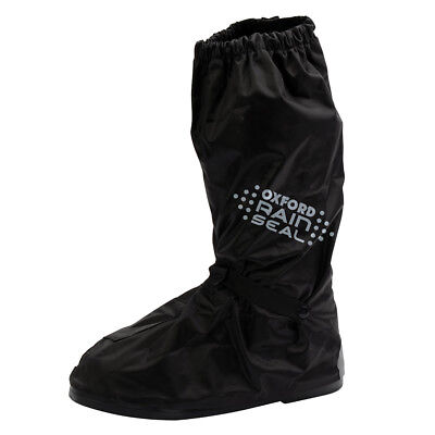 Oxford Motorcycle Bike Scooter Waterproof Reflective Rainseal Over Boots Black