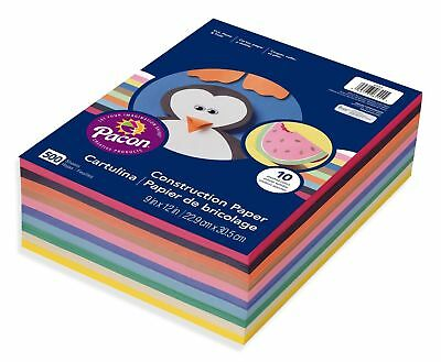 """Lot of Pacon Lightweight Construction Craft Paper, Assorted Colors, 9"""" x 12"""""""