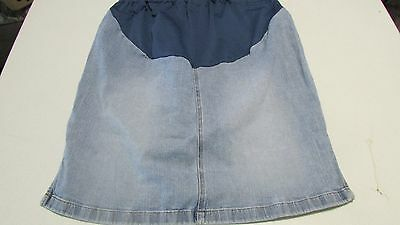 Women's Size Large Blue Jean Stretch Maternity Skirt By Old Navy