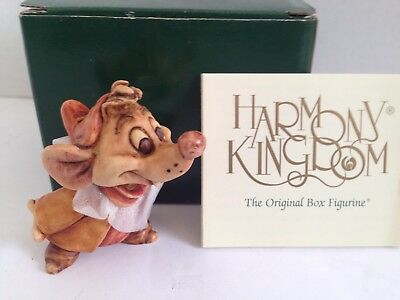 "Disney Harmony Kingdom..cinderella ...""jaq ""..the Mouse...(Original Box)"