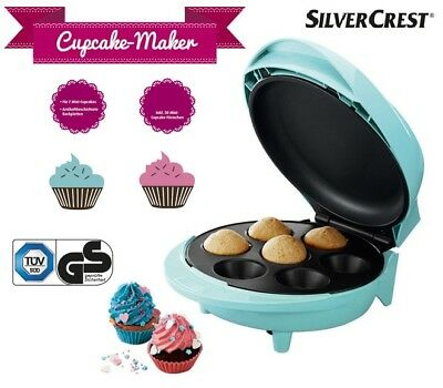 Cupcake Maker SILVERCREST Ink. 50 Mini-Cup cake- Förmchen 7 Mini-Cupcakes NEU