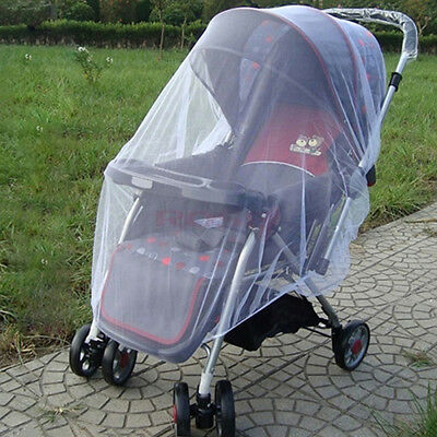 2x Universal Baby Stroller Pushchair Mosquito Insect Net Cover for Pram Car Seat