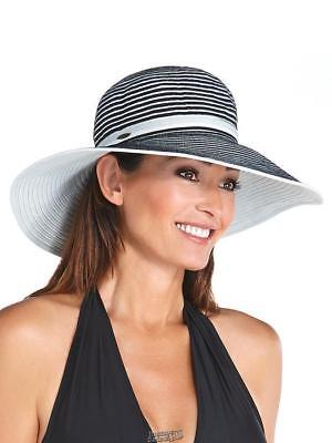 f60d0ab5 The Coolibar Wide Brim Ribbon Hat UPF 50+ Protection circumference: 21 5/8