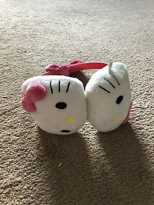 d7c4bb0df SANRIO HELLO KITTY soft sherpa Slippers for Women with 3d ears&bow 5 ...