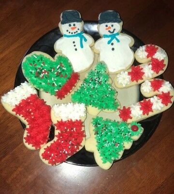 HOMEMADE FROSTED CHRISTMAS / Holiday Sugar Cookies - $13.00 | PicClick