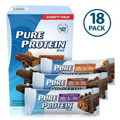 Pure Protein Bars, Healthy Snacks to Support Energy, Variety Pack, 1.76 oz,...
