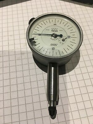 "(#242) TESA Swiss Made Precision Dial Indicator Range 0-.120"", Graduation 0.0005"