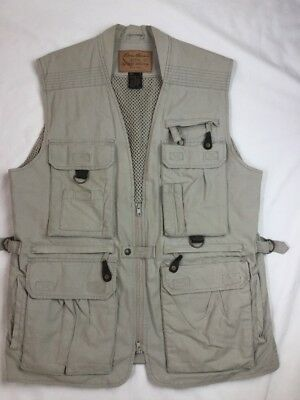 Eddie Bauer Safari Fishing Photographer Vest Mens Small S outdoor outfitter