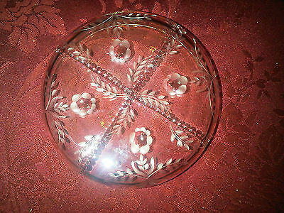 Fabulous Faberge Gatchina Crystal Wine Coaster Roses Ribbons Bows