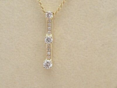 Jewelry & Watches United Dazzling Diamond Accents Journey Pendant Past/present/future Pendant In 14k Over
